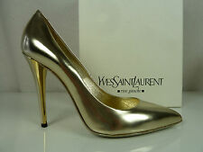 Yves Saint Laurent Glamour Pumps aus goldfarbenem Leder Gr.39