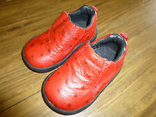 ROPER KIDS ~RED OSTRICH~  Leather Slip-On Baby Toddler Size 3