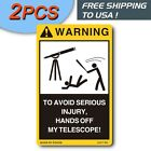 2PCS Warning decals for Celestron Telescope Box Tripod & Monocular Case ediom