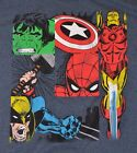 MARVEL Comics Avengers Hulk Captain America Thor Ironman Spiderman T-Shirt Tee