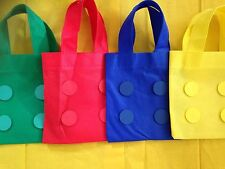 4 X Lego Inspired Fabric Party Bags