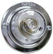 "3"" inch Round Clear Lens Auxiliary Dome,Cargo,Light Chrome-Plated Bezel"