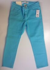 NEW JOE FRESH Skinny Jeans Size 0 Bright Sea Blue Stretch Denim Slim Ankle Pants