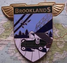 Vintage Heavy Enamel Car Mascot Badge : Brooklands Aero Motor Racing Club