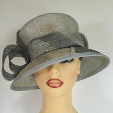 Ladies Wedding Hat Races Mother Bride Ascot Two Tone Grey Anne Hanna Milliney