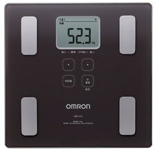 Digital scale Karada scan HBF-214-BW Omron Body Weight Brown Japan import New