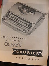 Instructions TYPEWRITER OLIVER COURIER portable - CD/email