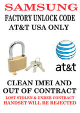 AT&T USA UNLOCK CODE Samsung Captivate SGH-I897 GalaxyCLEAN IMEI OUT OF CONTRACT