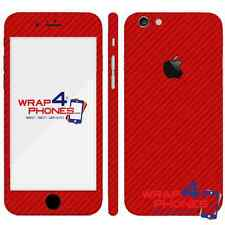 3D Textured Carbon Fibre Skin Wrap Sticker Decal Case Cover For All iPhone
