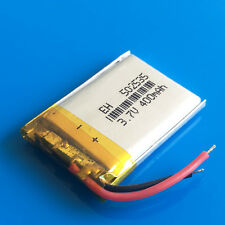 3.7V 400mAh 502535 Lipo Rechargeable Battery for MP3 DVD GPS Headphone Bluetooth
