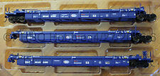 HO Scale  ATLAS 20 002 837 PACER STACK TRAIN Thrall 53' Articulated Well Car Set