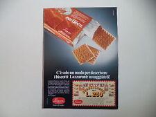 advertising Pubblicità 1984 BISCOTTI LAZZARONI