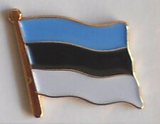 Estonia Country Flag Enamel Pin Badge