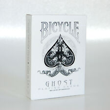 Bicycle Ellusionist RARE UV500 White Ghost Magic US Playing Cards Magic Poker