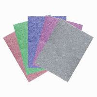 10 Glitter A5 Foam Sheets Art Craft Red Green Silver Blue Card Making Glittered