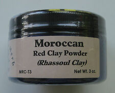 Moroccan Red Clay Powder (Rhassoul) 3 oz. tub 100% Pure - The Elder Herb Shoppe