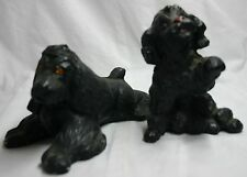 Pair of Black Chalk Dogs