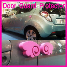 Car Door Guard Bumper Protector Angel Wing Accessories 4pcs Black/Blue/Pink