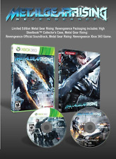 Metal Gear Rising Revengeance Game & Steelbook Case-- Limited Edition Xbox 360