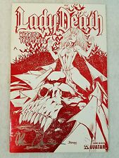 LADY DEATH WARRIOR TEMPTRESS #1 RED & WHITE LEATHER EDITION SIGNED AVATAR COMCIS
