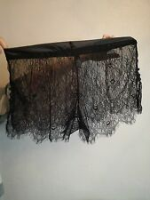 Ann Summers black lace french knickers Size large