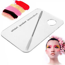Cosmetic Acrylic Nail Art Polish Makeup Mixing Palette Stainless Steel Spatula