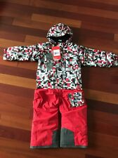 The North Face Snowsuit Boys Girls Red Grey Todd Insulated Jumps 4T NWT $149cool