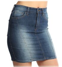 Nwt $69 GUESS Indigo French Terry Stretch Denim Mini Skirt ~Passion Flower 2 *28