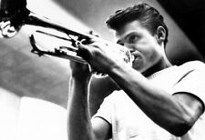 Chet Baker Poster, Playing the Trumpet, Jazz Musician, West Coast Cool