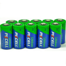 (Pack of 10) PKCELL Lithium CR123A CR17345 3V Photo Li-MnO2 Batteries EXP 2026