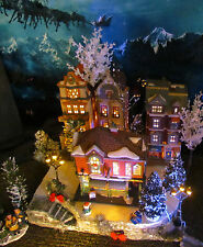 Christmas Curved Corner Village Display platform base Dept 56 Lemax Dickens