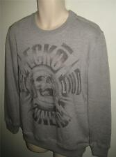 NWT ECKO UNLTD GET LOUD MEN SWEATSHIRT PULLOVER LONG SLEEVE SHIRT SIZE L GRAY