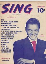 JAN 1950 --- SING vintage music magazine - BILL LAWRENCE