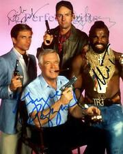 THE A TEAM X4 PEPPARD BENEDICT SCHULTZ MR T SIGNED 10X8 PP REPRO PHOTO PRINT