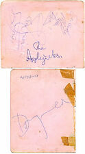 The Applejacks + Acker Bilk signed autograph album pages 1960s band Tell Me When