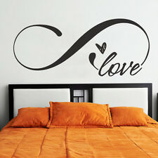 Love Infinity Wall Sticker Symbol Headboard Quote Vinyl Room Removable Art Decor