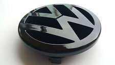 VW Golf MK5 125mm full Gloss Black tuning Front Grill Badge Emblem GTI TDI DEVIL