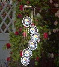 PITTSBURGH STEELERS FOOTBALL TEAM NFL LOGO SOLAR LED GARDEN DECK HANGING MOBILE