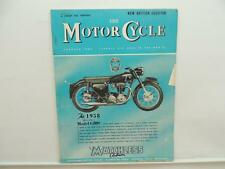 Jan 1958 The Motorcycle Magazine Matchless Clubman G80S Esso Triumph AJS L8275