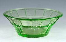 Vintage Small Green Uranium Glass 4.5 Inch Bowl