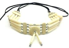 Native Traditional Buffalo Bone Hairpipe Choker Necklace