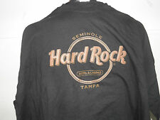 Hard Rock Cafe Seminoles Hotel & Casino Tampa Leather Letter T-Shirt Sz 2XL(NWT)