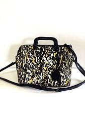 3.1 PHILLIP LIM BOSTON SATCHEL IN CALF HAIR ANIMAL PRINT WITH POUCH, $1295