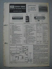 ITT/graphique Lorenz touring Europe s service manual
