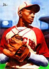 Satchel Paige KC Monarchs Sketch Card *Artist Signed* Rare 4/10 Only Ten Made