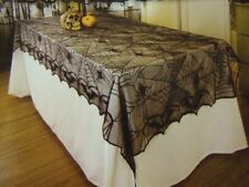 "Spider Web Gothic Lace Tablecloth ~ Halloween Decorations ~ 48"" x 96"" Rectangle"