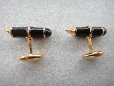 Black and Gold Cuff Links. Look like fountain Pens.  Beautiful!
