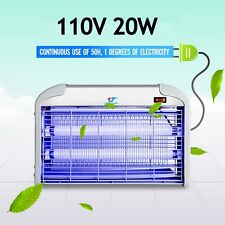 110V 20W Indoor Electric UV Mosquito Fly Killer Bug Zapper Pest Light Catcher