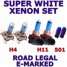 FITS NISSAN MICRA 2006-ON    SET H4  H11  501 XENON LIGHT BULBS