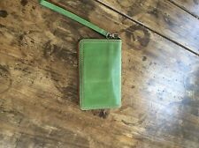 womens wallets/Tusk Green And Orange Leather Wallet